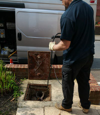 Clearing blocked drains in Swanley